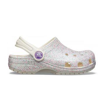 Crocs CLASSIC GLITTER CLOG, dječije natikače, srebrna