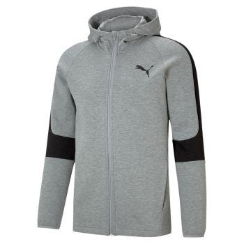 Puma EVOSTRIPE CORE FZ HOODIE, muška jakna, siva