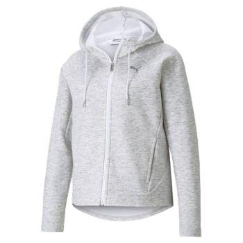 Puma EVOSTRIPE FULL-ZIP HOODIE, ženska jakna, bijela