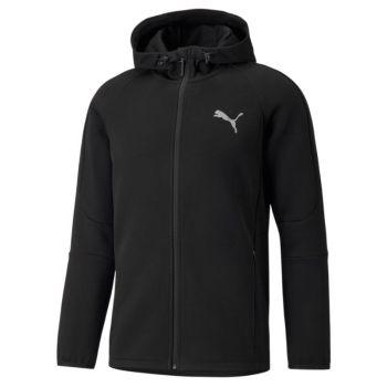 Puma EVOSTRIPE FZ HOODIE, muška jakna, crna