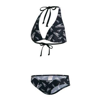 Speedo TRIANGLE TIE 2PC AF, ženski kupaći, crna