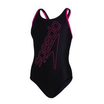 Speedo BOOMSTAR PLMT FLYBACK JF, dječiji kupaći kostim jednodjelni, crna