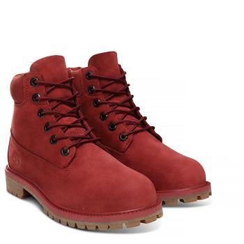 Timberland 6-INCH WATERPROOF PREMIUM, dječije cipele, crvena