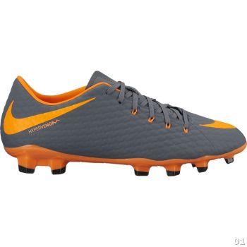 Nike PHANTOM 3 ACADEMY FG, muške kopačke za nogomet, siva