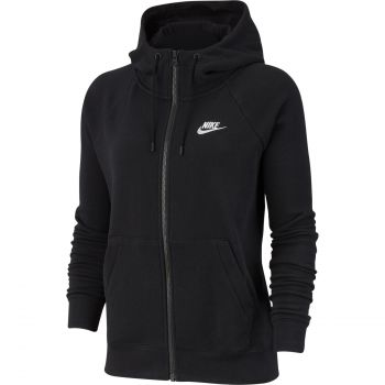 Nike SPORTSWEAR ESSENTIAL FULL-ZIP FLEECE HOODIE, ženska jakna, crna