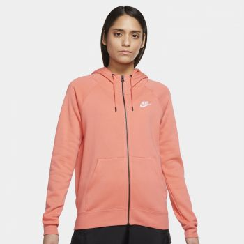 Nike SPORTSWEAR ESSENTIAL FULL-ZIP FLEECE HOODIE, ženska jakna, narandžasta