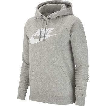 Nike SPORTSWEAR ESSENTIAL FLEECE PULLOVER HOODIE, ženski pulover, siva
