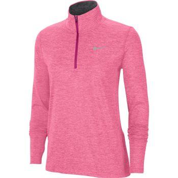 Nike ELEMENT WO 1/2-ZIP RUNNING TOP, ženski duks zip za trčanje, roza