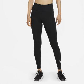 Nike DRI-FIT ONE ICON CLASH MID-RISE GRAPHIC LEGGINGS, ženske helanke za fitnes, crna