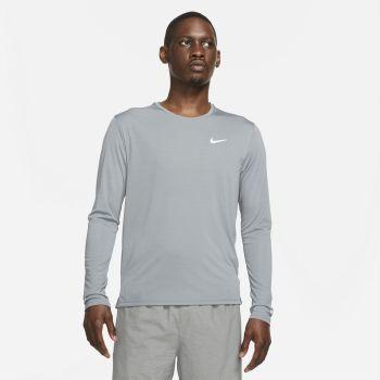 Nike DRI-FIT MILER LONG-SLEEVE RUNNING TOP, muška majica za trčanje, siva