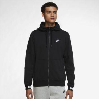 Nike SPORTSWEAR ESSENTIALS+ FRENCH TERRY FULL-ZIP HOODIE, muška jakna, crna