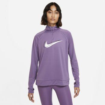 Nike DRI-FIT SOSH RUN 1/2-ZIP RUNNING MIDLAYER, ženska majica za trčanje, ljubičasta