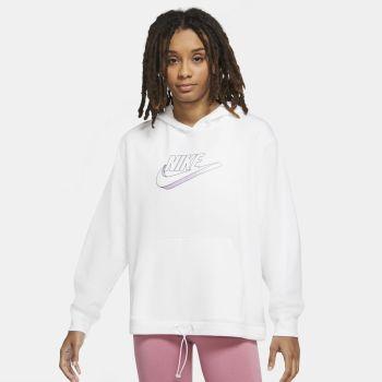 Nike SPORTSWEAR EASY FLEECE HOODIE, ženski pulover, bijela