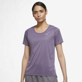Nike DRI-FIT RACE SHORT-SLEEVE RUNNING TOP, ženska majica za trčanje, ljubičasta
