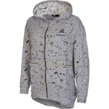 Firefly ALYSSIA 03 FELPA ZIP DEVORE, ženski pulover, siva