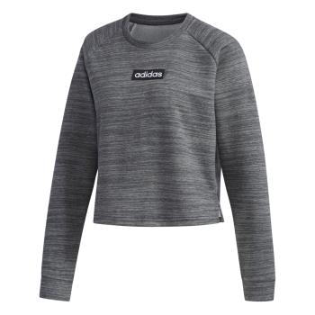 adidas W E SWEAT FT, ženski pulover, siva