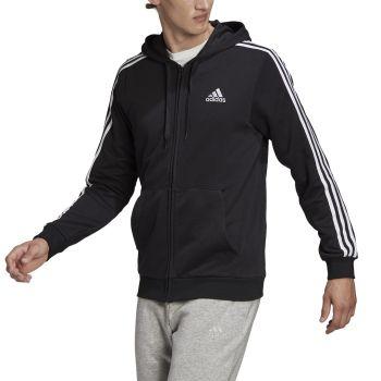 adidas M 3S FT FZ HD, muška jakna, crna