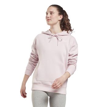 Reebok RI FLEECE HOODY, ženski pulover, roza