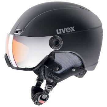 Uvex HLMT 400 VISOR, skijaška kaciga, crna
