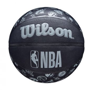 Wilson NBA TEAM COMPOSITE ALL TEAM, košarkaška lopta, crna