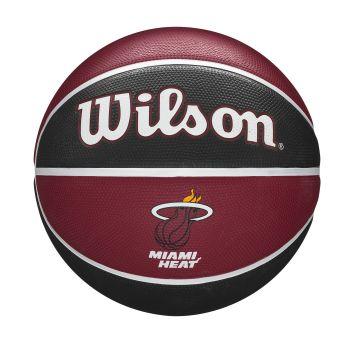 Wilson NBA TEAM TRIBUTE MIAMI HEAT, košarkaška lopta, crvena