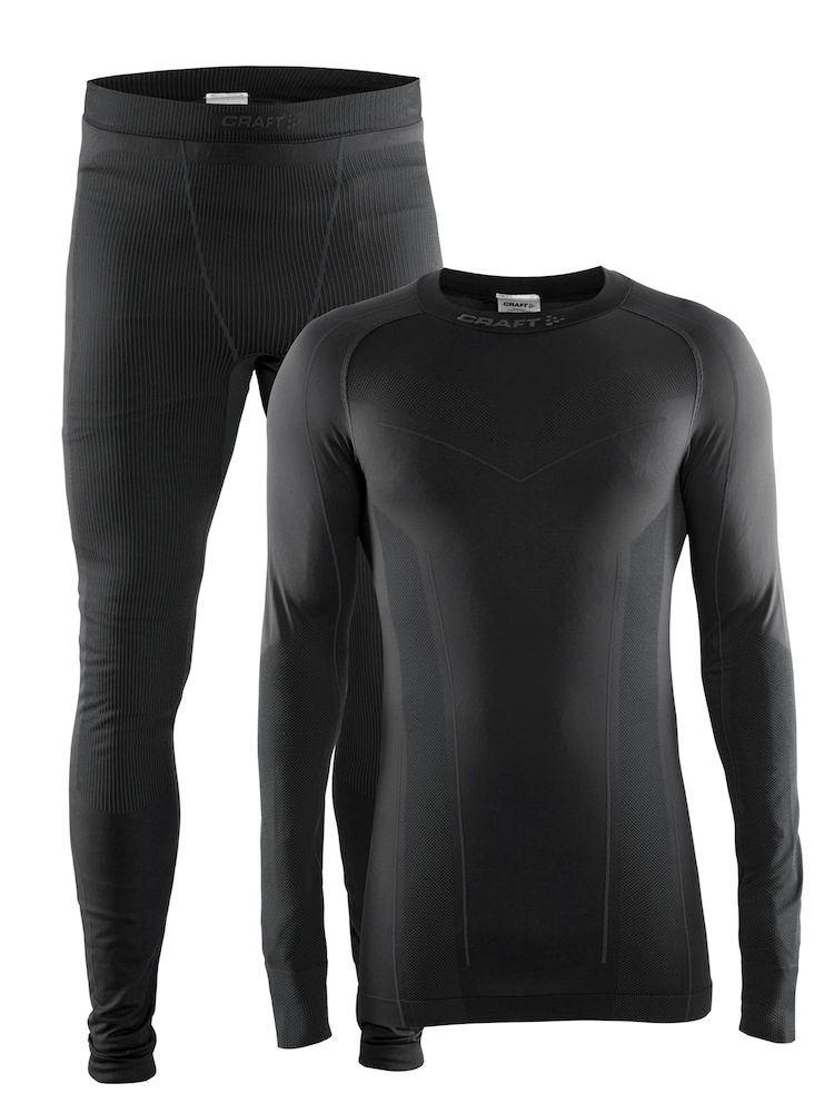 Craft BASELAYER SEAMLESS ZONE SET M, donji veš muško set, crna