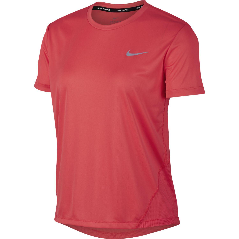 Nike W NK MILER TOP SS, ženska majica za trčanje, crvena
