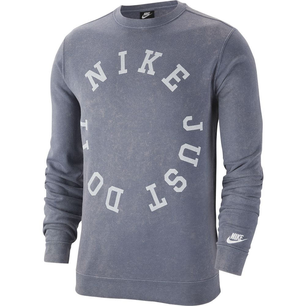 Nike M NSW CE CRW FT WASH, muška majica za fitnes, siva