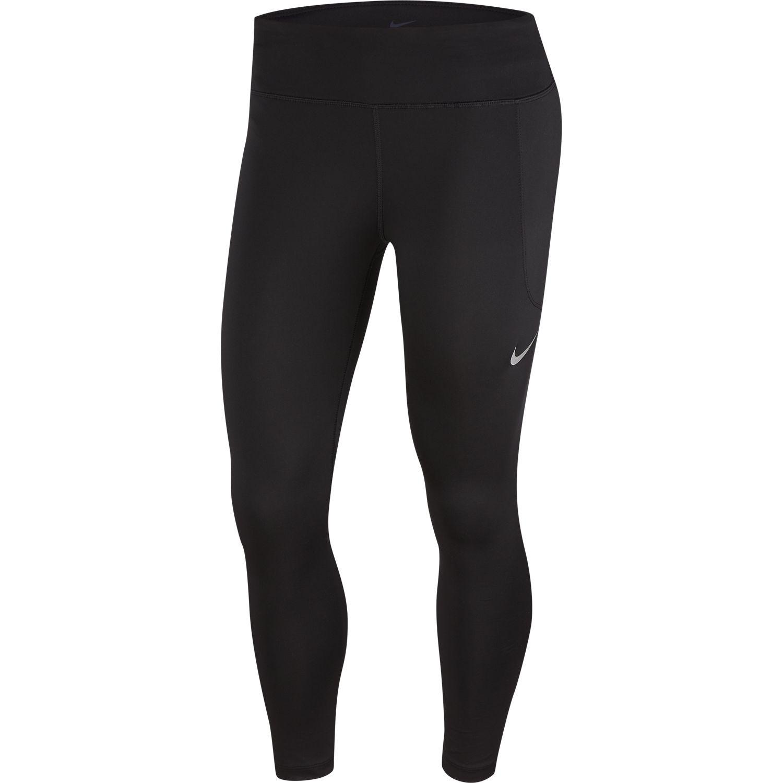 Nike W NK FAST CROP, ženske helanke za trčanje, crna