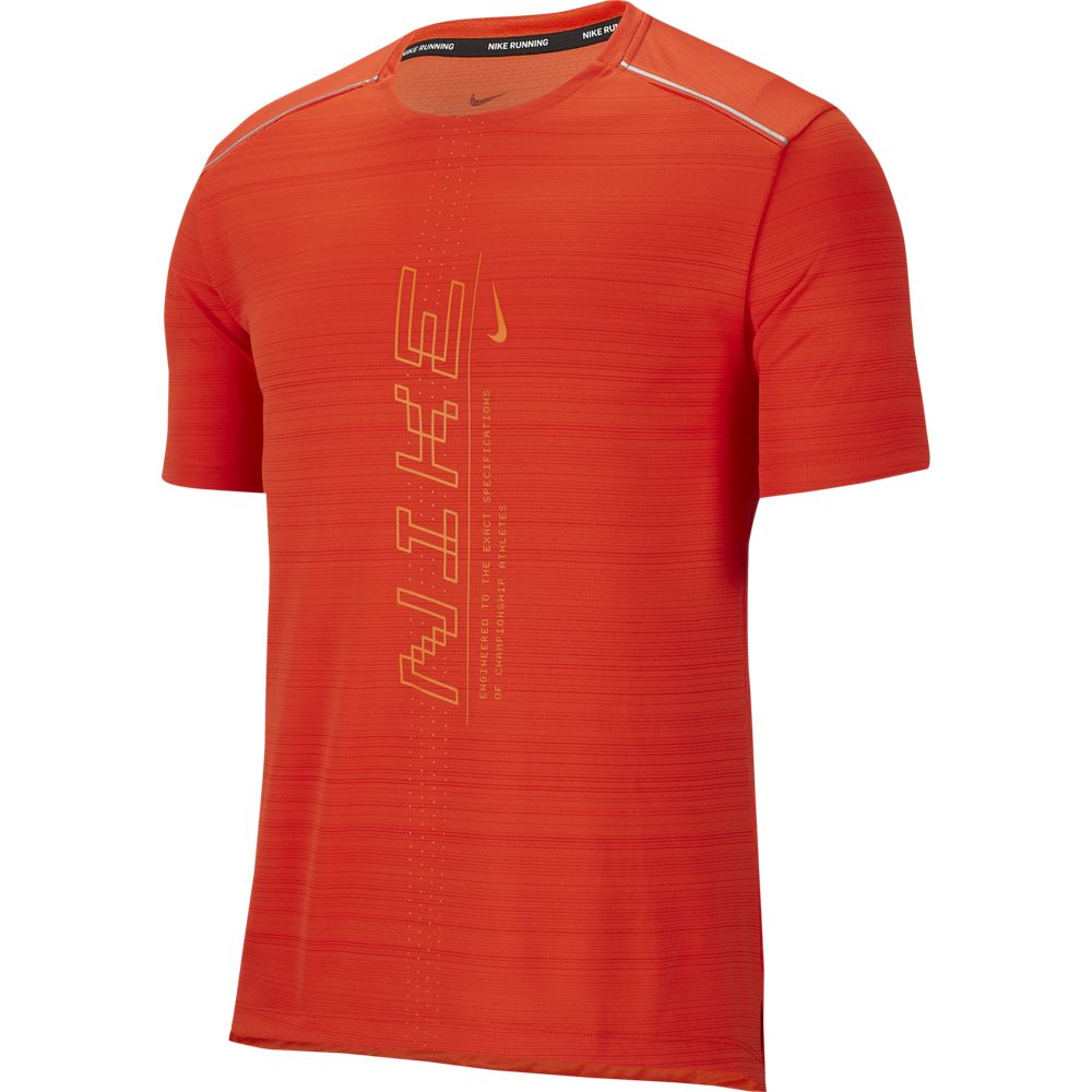 Nike M NK DRY MILER SS PO GX FF, muška majica za trčanje, crvena