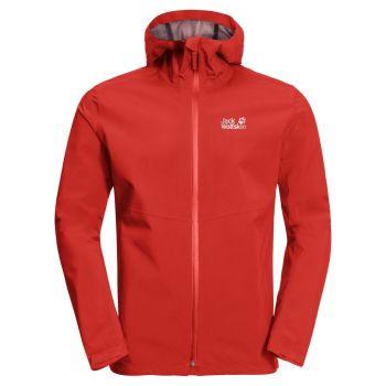 Jack Wolfskin JWP SHELL M, muška jakna za planinarenje, crvena