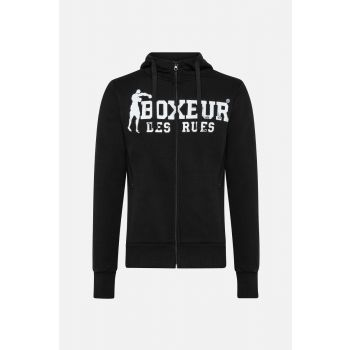 Boxeur HOODED FULL ZIP SWEATSHIRT, muška jakna, crna