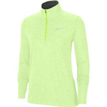 Nike ELEMENT WO 1/2-ZIP RUNNING TOP, ženski duks zip za trčanje, zelena