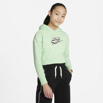 Nike SPORTSWEAR CROPPED HOODIE, dječiji pulover, zelena