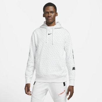 Nike M NSW REPEAT FLC PO HOOD PRNT, muški pulover, bijela