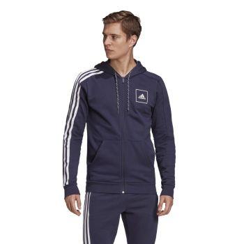 adidas M 3S TAPE FZ, muška jakna, plava