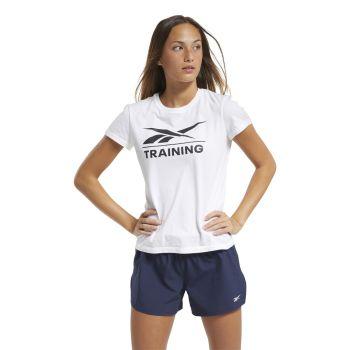Reebok REEBOK TRAINING TEE, ženska majica za fitnes, bijela