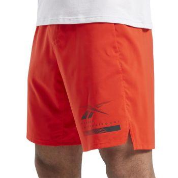 Reebok TS EPIC LTWT SHORT GR, muške fitnes hlače, crvena