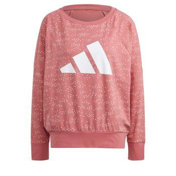 adidas W WIN CREW, ženska majica dugi rukav za fitnes, roza