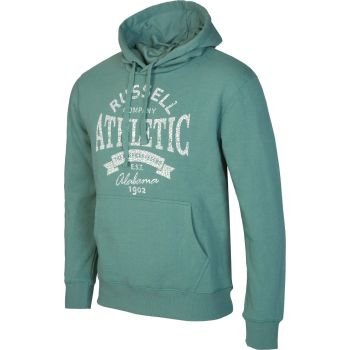 Russell Athletic PULL OVER HOODY SWEAT WITH GRAPHIC PRINT, muški pulover, zelena