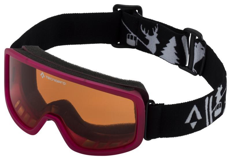 Tecnopro MISTRAL 2.0, dječije skijaške naočale, crna