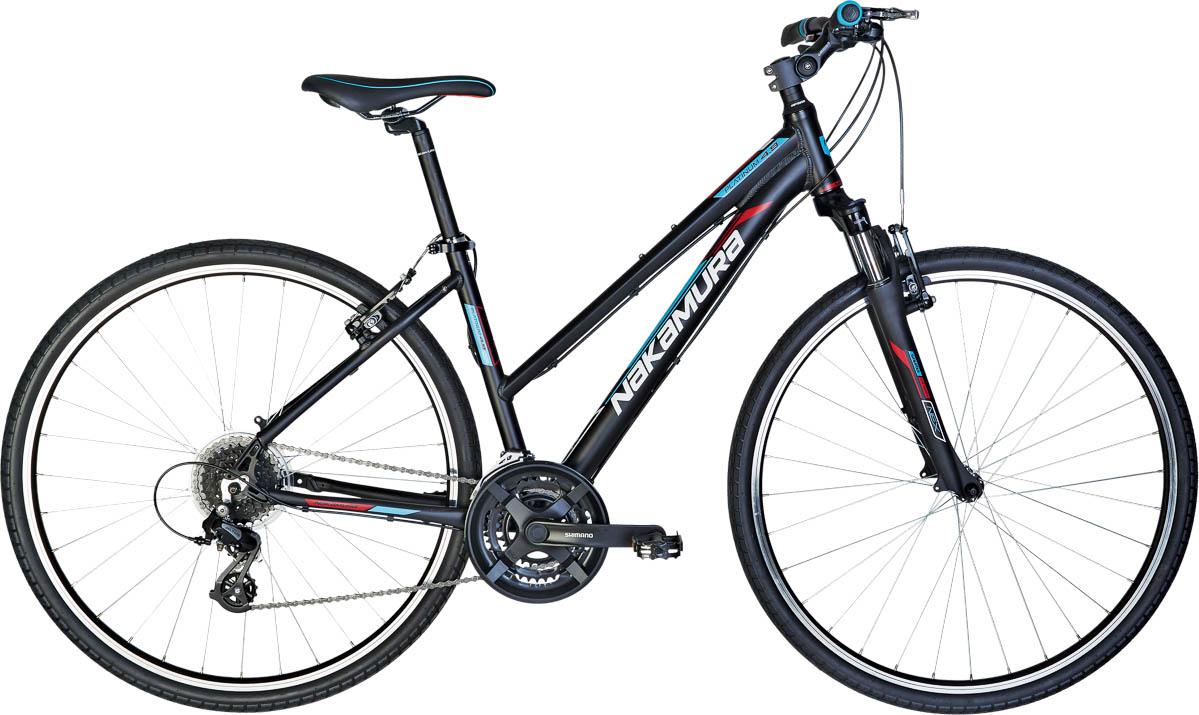 Nakamura PLATINUM 4.9 W, ženski treking bicikl, crna