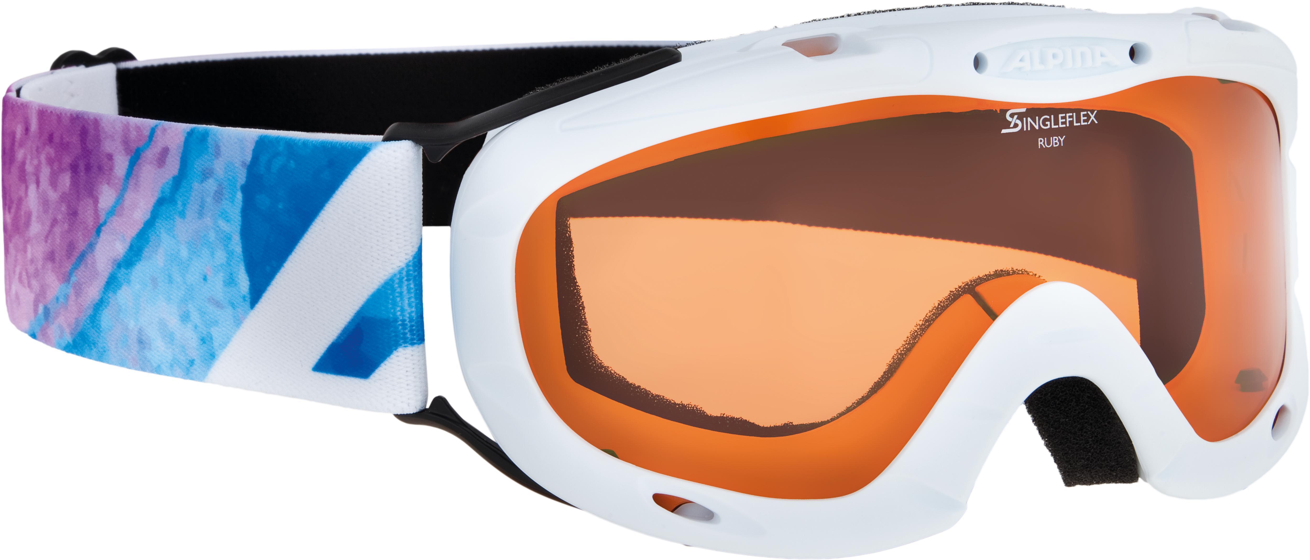 Alpina RUBY S SH, dječije skijaške naočale, bijela