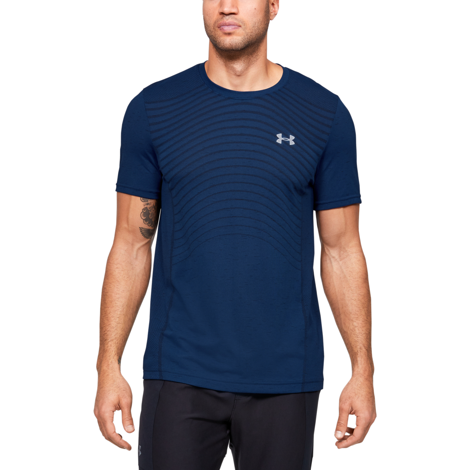 Under Armour SEAMLESS WAVE SS, muška majica za fitnes, plava