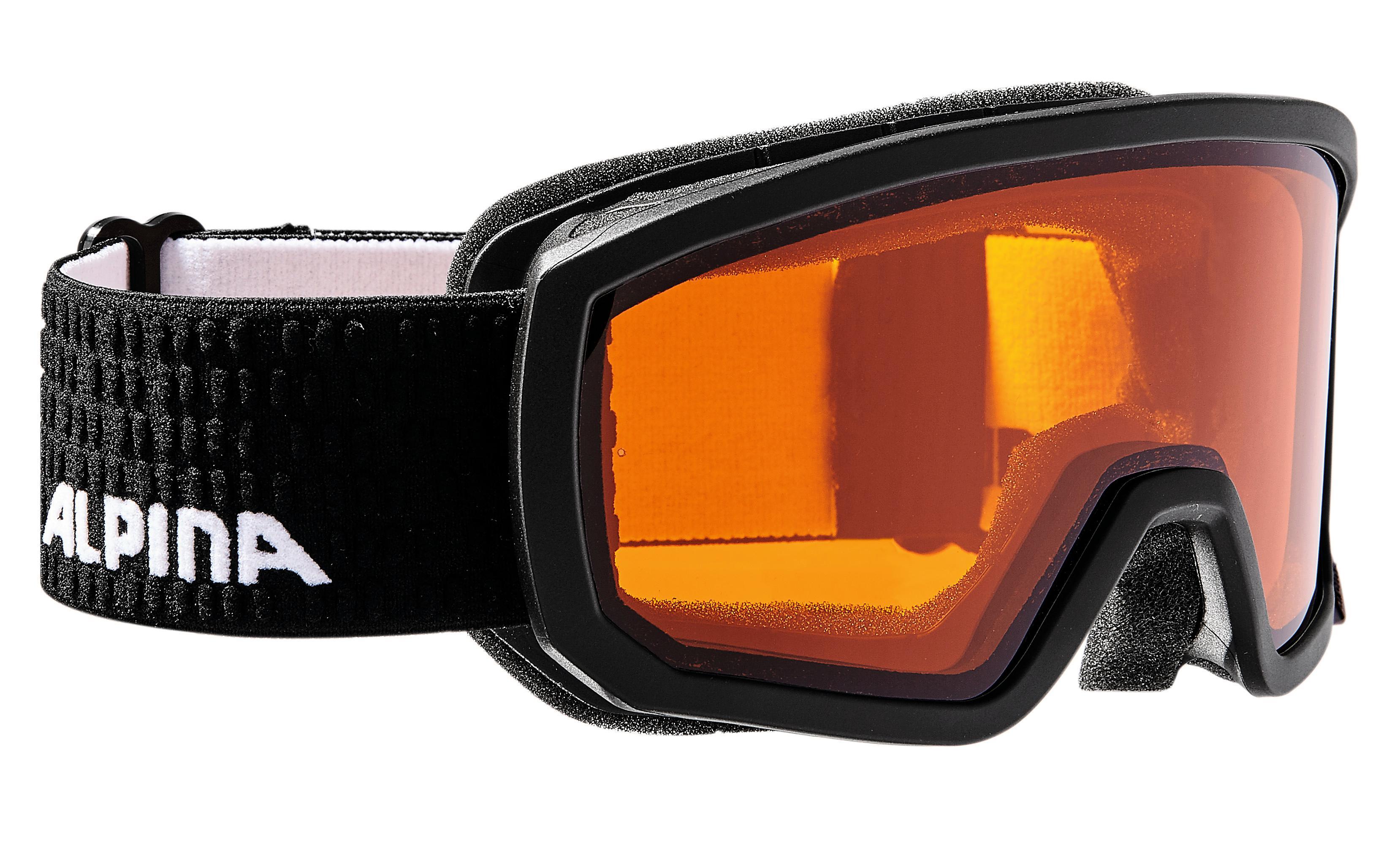 Alpina SCARABEO JR DH, dječije skijaške naočale, crna
