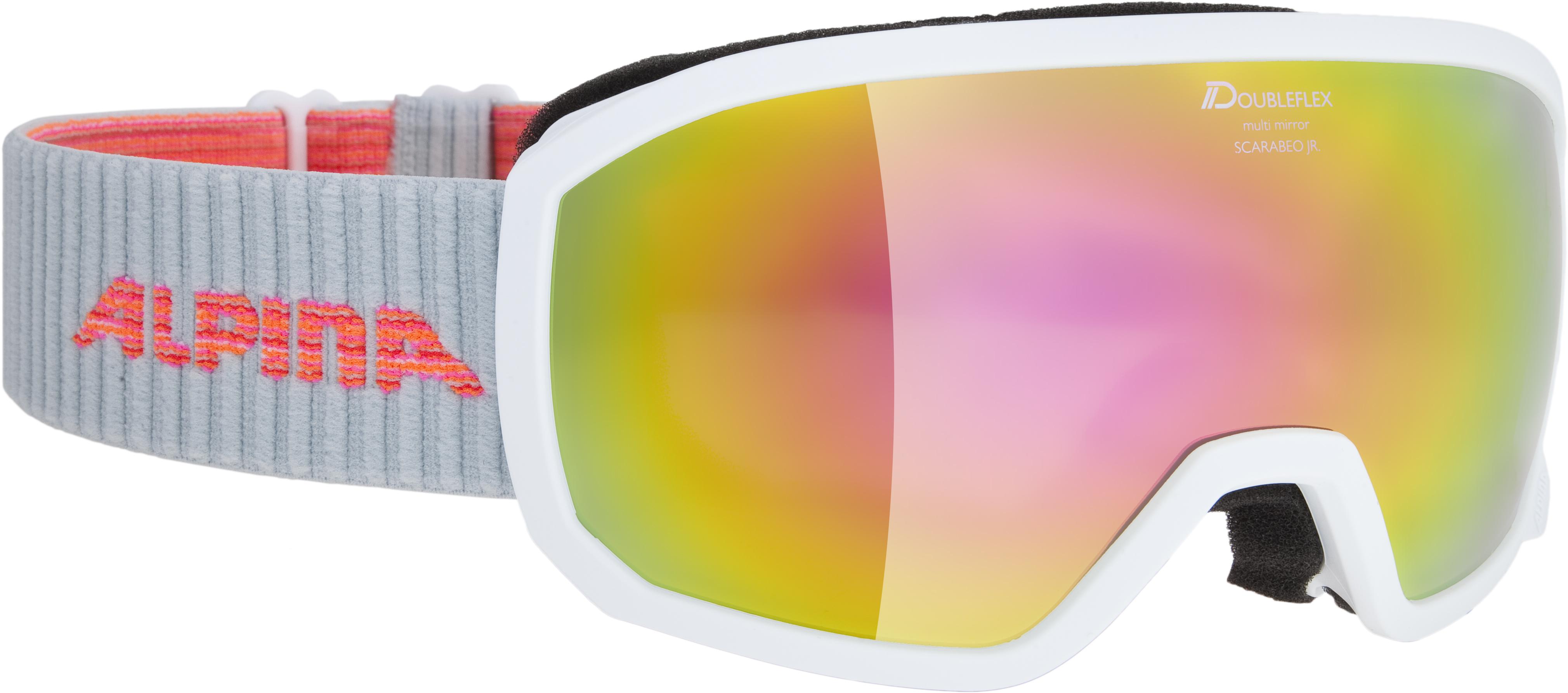 Alpina SCARABEO JR DH, dječije skijaške naočale, bijela
