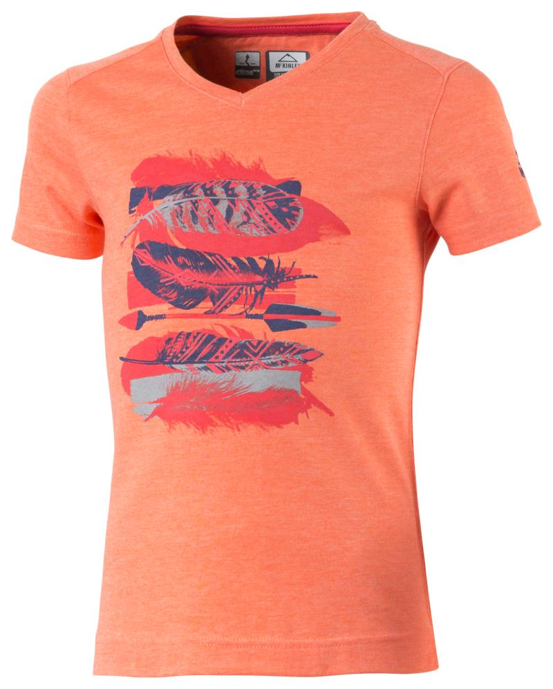 McKinley ZABA GLS, dječija majica za planinarenje, crvena